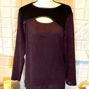 Milan Kiss Purple Long Sleeve Top